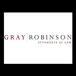 restaurant consultant clients, gray & robinson attorneys logo